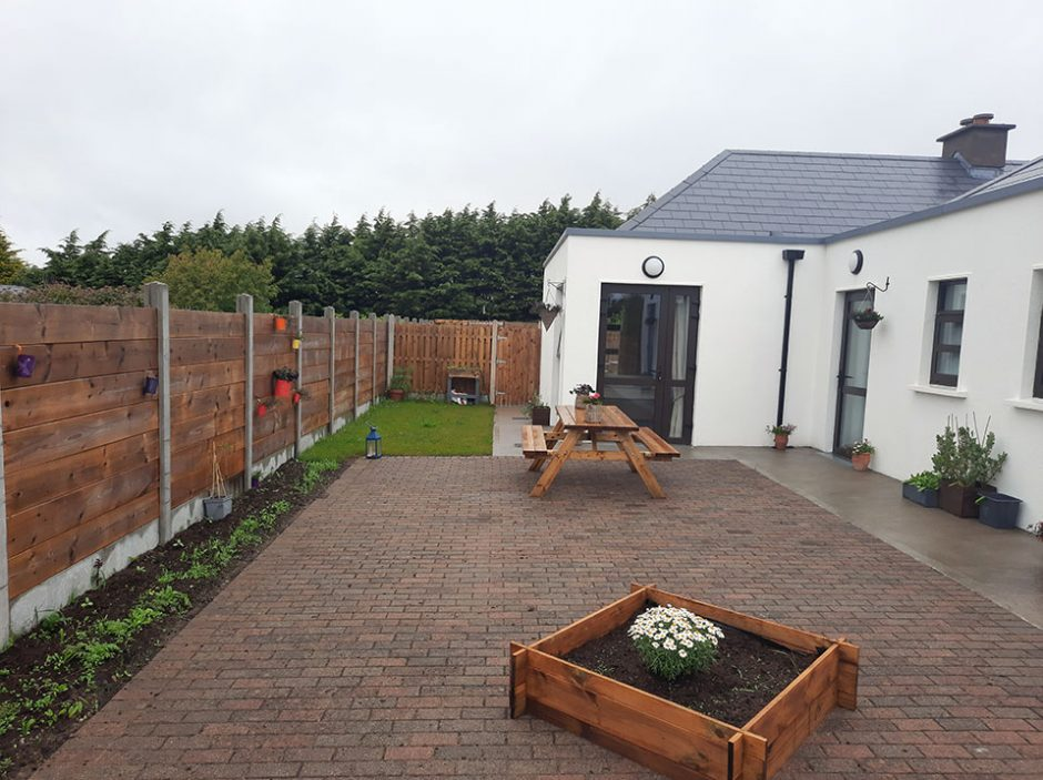 Brinkwater House - Individual gardens and patio area at the rear of the house
