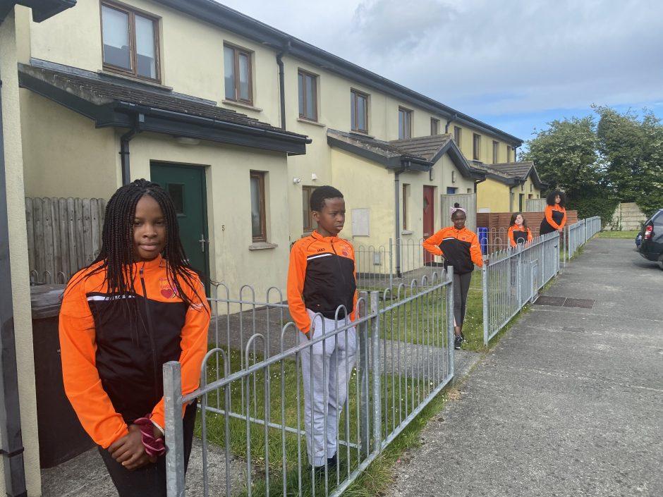 Choir members observing Social Distancing