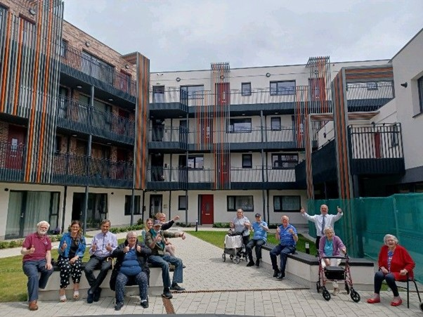 New Dolphin's Park - main courtyard with residents