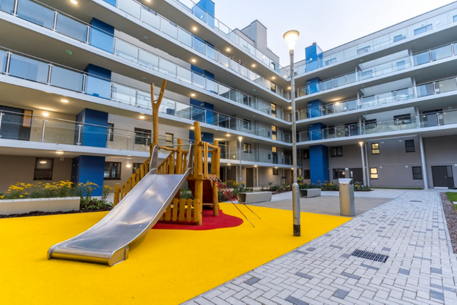 St. Mary's Mansions - Courtyard with playground